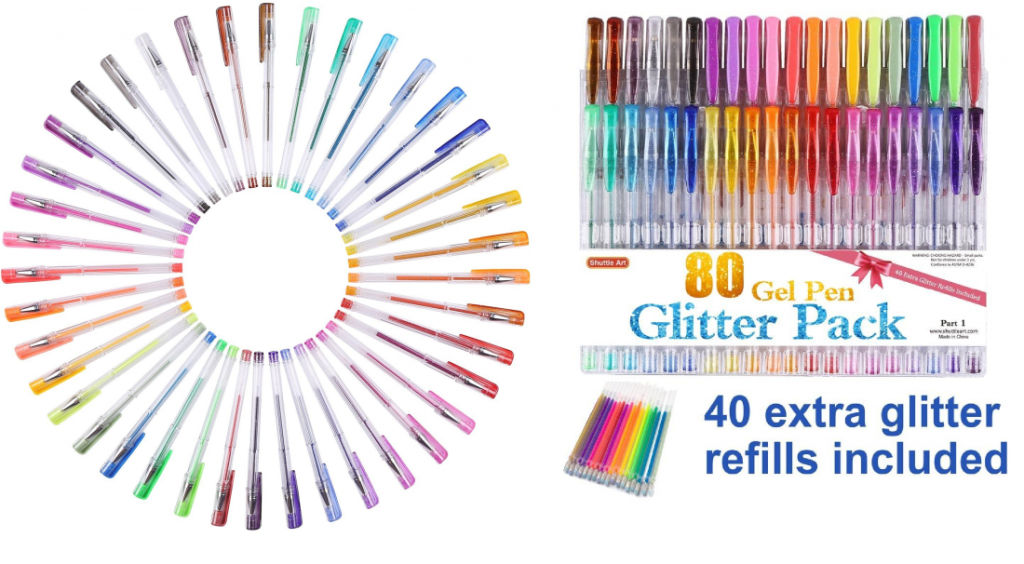 80 Colors Glitter Gel Pens