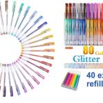 80 Colors Glitter Gel Pens