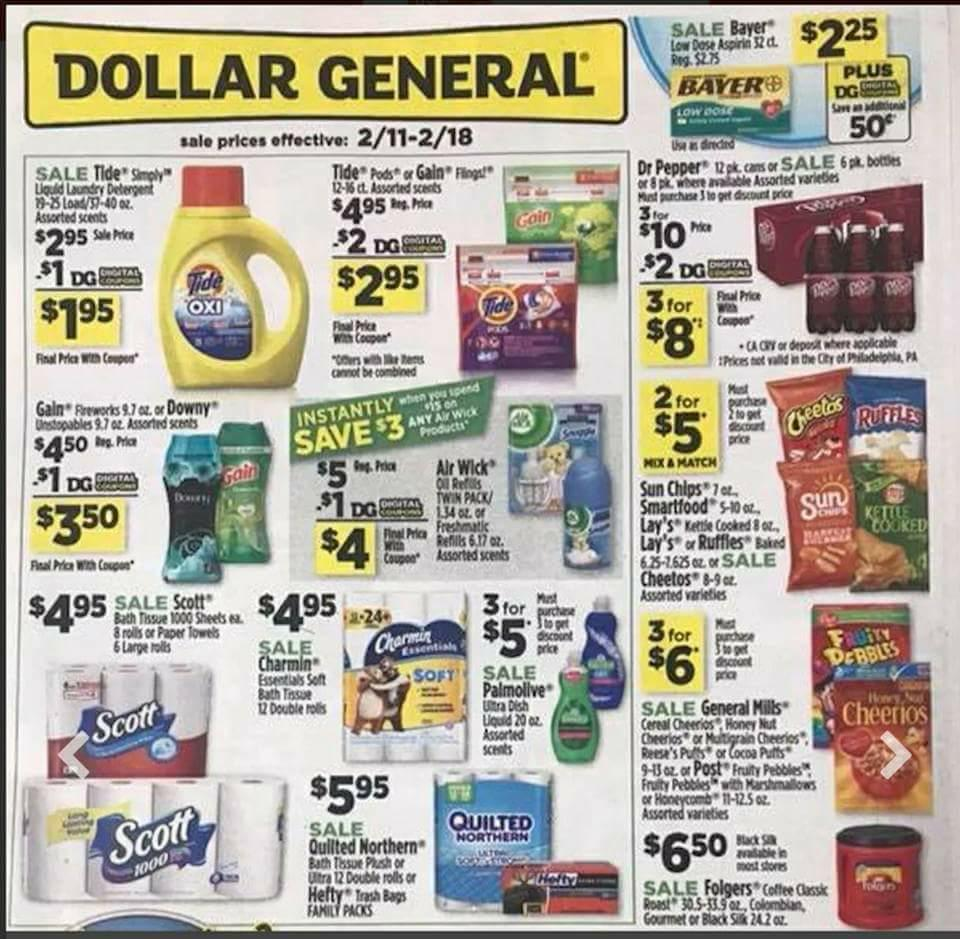 Dollar General Ad Scan Week 2 11 18 Page 1