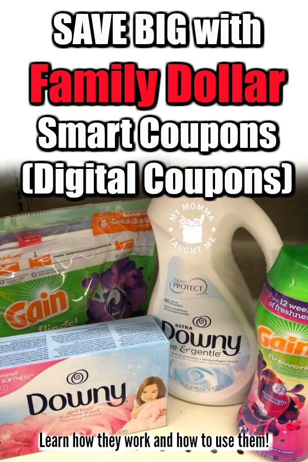 Save Big With Family Dollar Smart Coupons (Digital Coupons) Learn How They Work And How To Use Them!