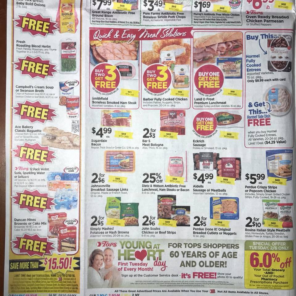Tops Markets Ad Scan Week 2 4 18 Page 2b
