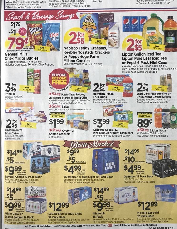 Tops Markets Ad Scan Week 2 4 18 Page 5b