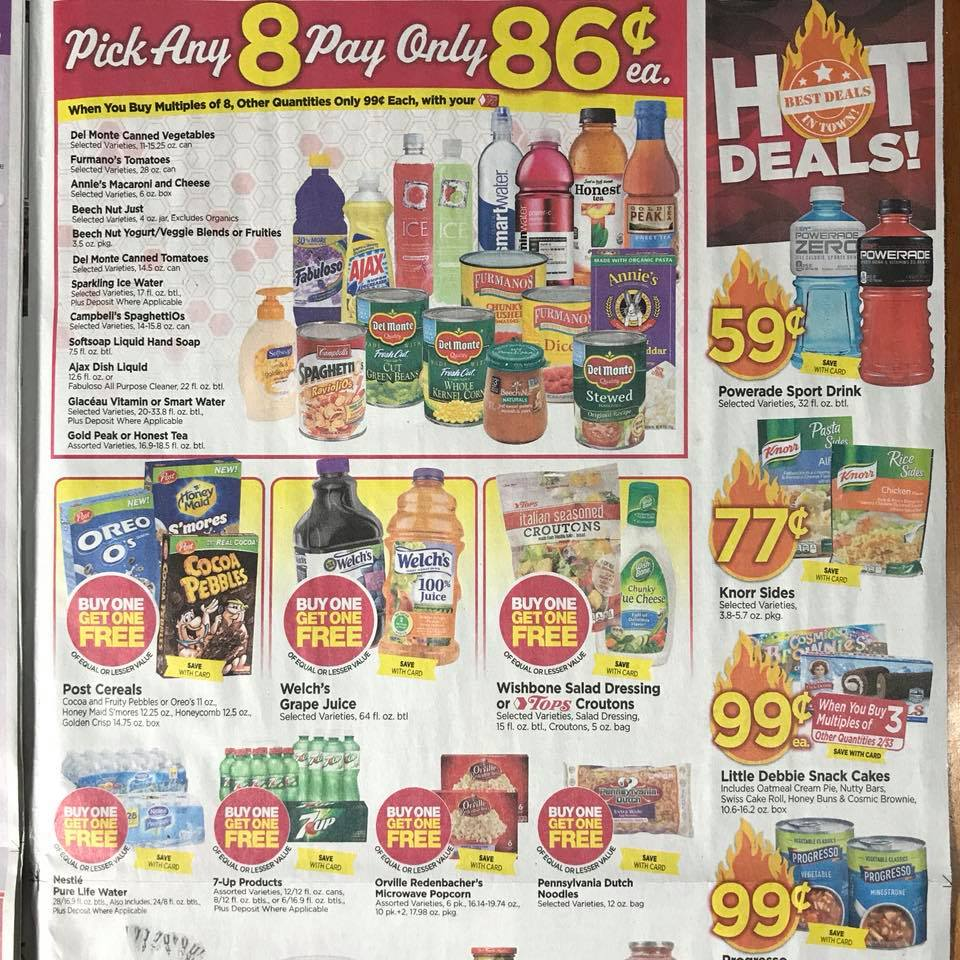 Tops Markets Ad Scan Week 2 4 18 Page 9a