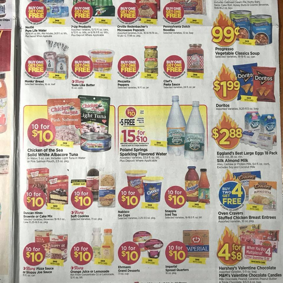 Tops Markets Ad Scan Week 2 4 18 Page 9b