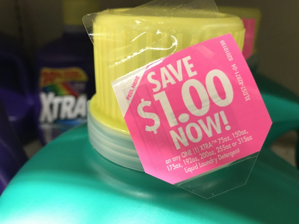 Xtra Large Detergent Bottles Peelie Coupon At Tops Markets