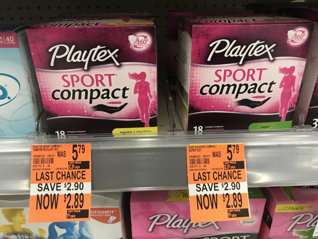 Playtex Clearanced At Walgreens