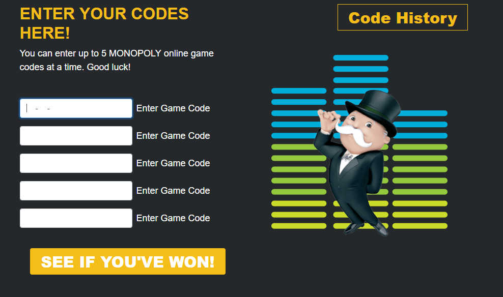 Enter Monopoly Codes Online 2018