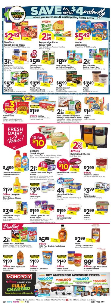 Tops Markets Ad Preview Week 3 11 18 Page 4