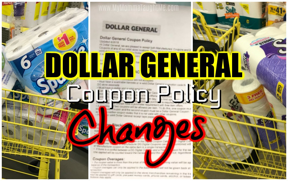 Dollar General Coupon Policy Changes