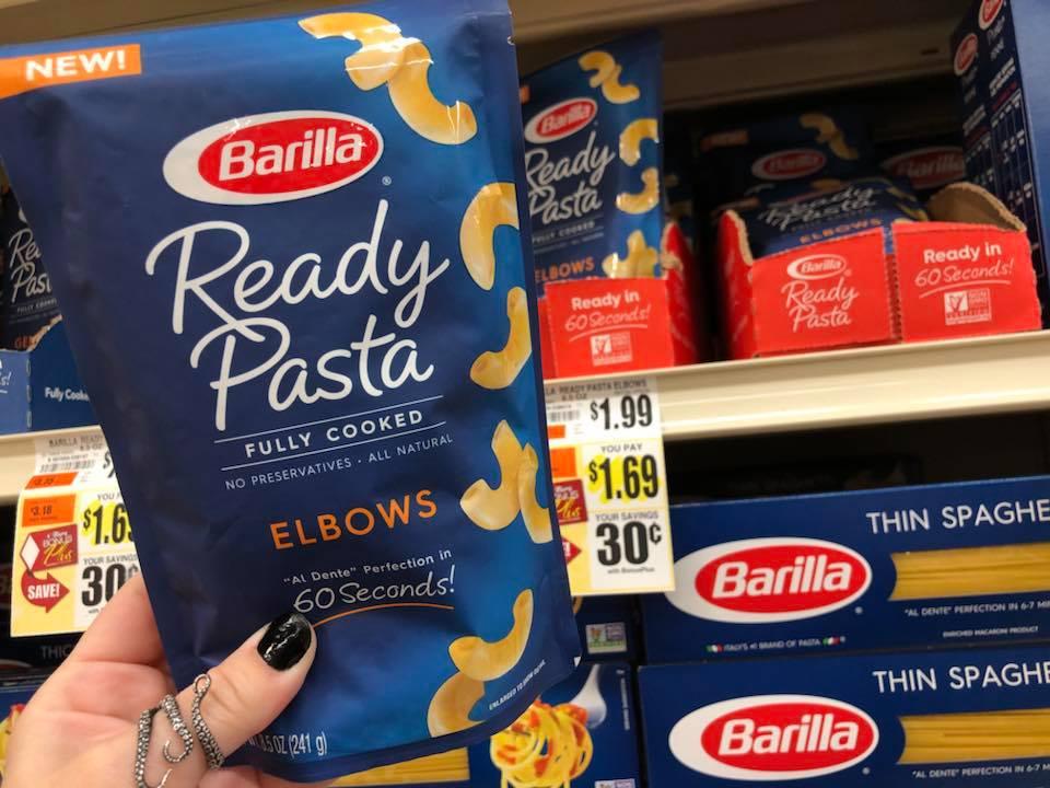 Barilla Ready Pasta Deal At Tops