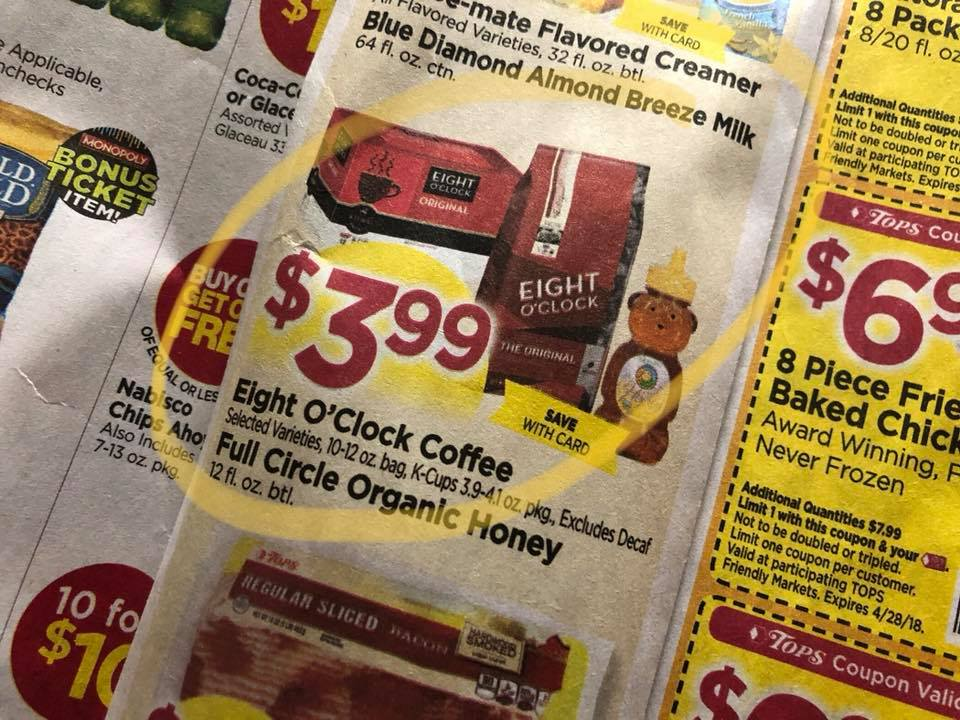 Eight O Clock Coffee Sale At Tops Markets
