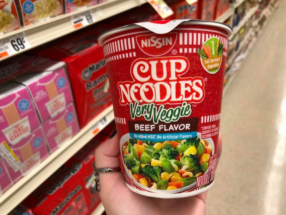 Money Maker Deal on Nissin Very Veggie Cups at Tops