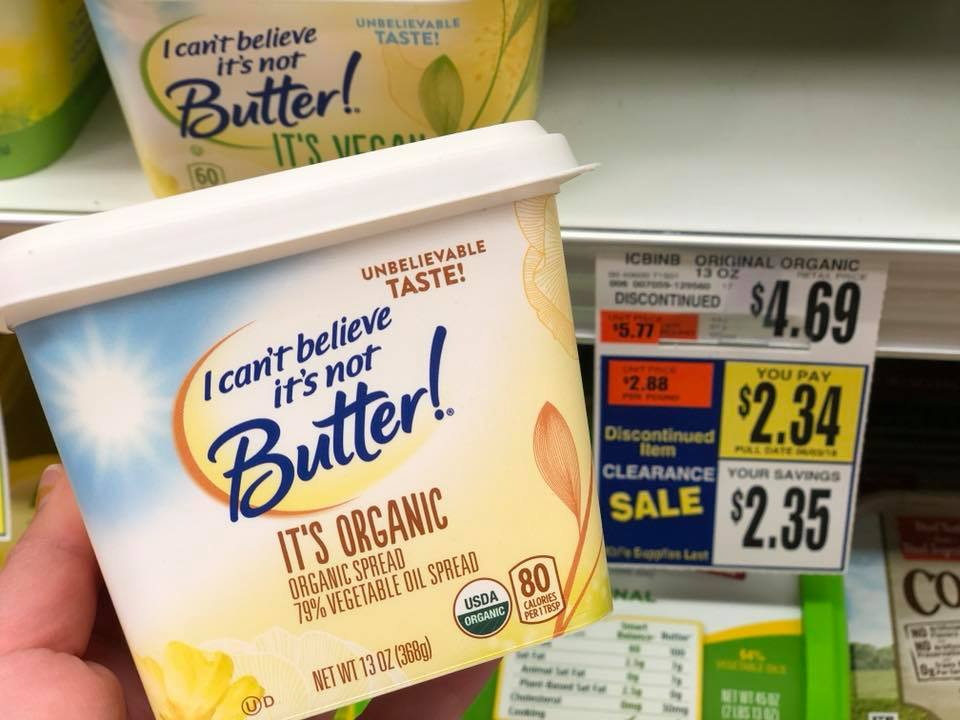 I Can't Believe It's Not Butter Organic Offer Clearanced
