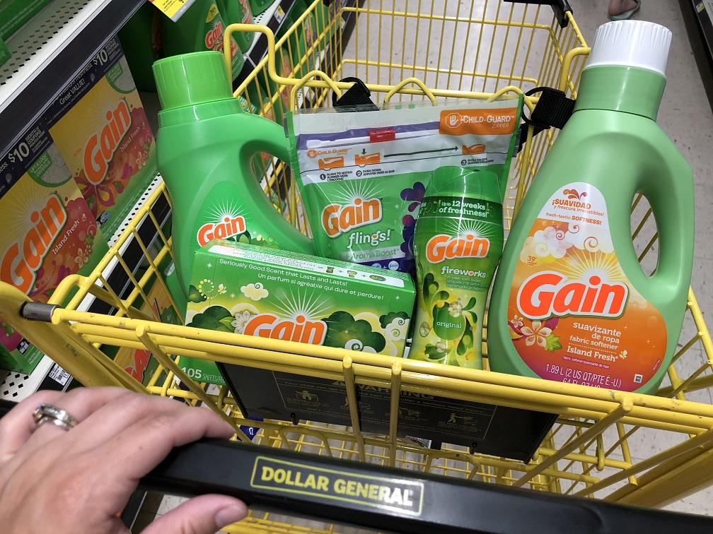 Gain Items Cart At Dollar General