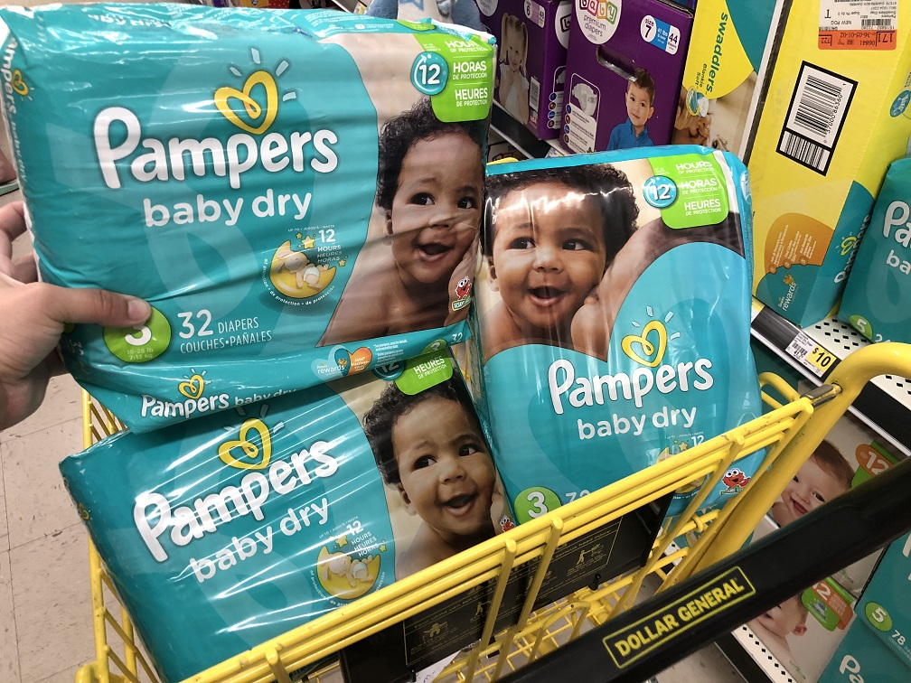 Pampers Diapers Cart