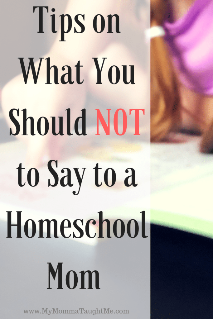 Tips On What You Should Not To Say To A Homeschool Mom (1)