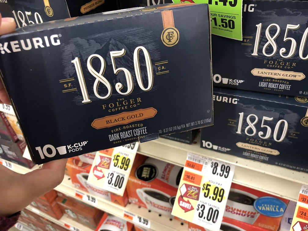 Folgers 1850 Coffee K Cups