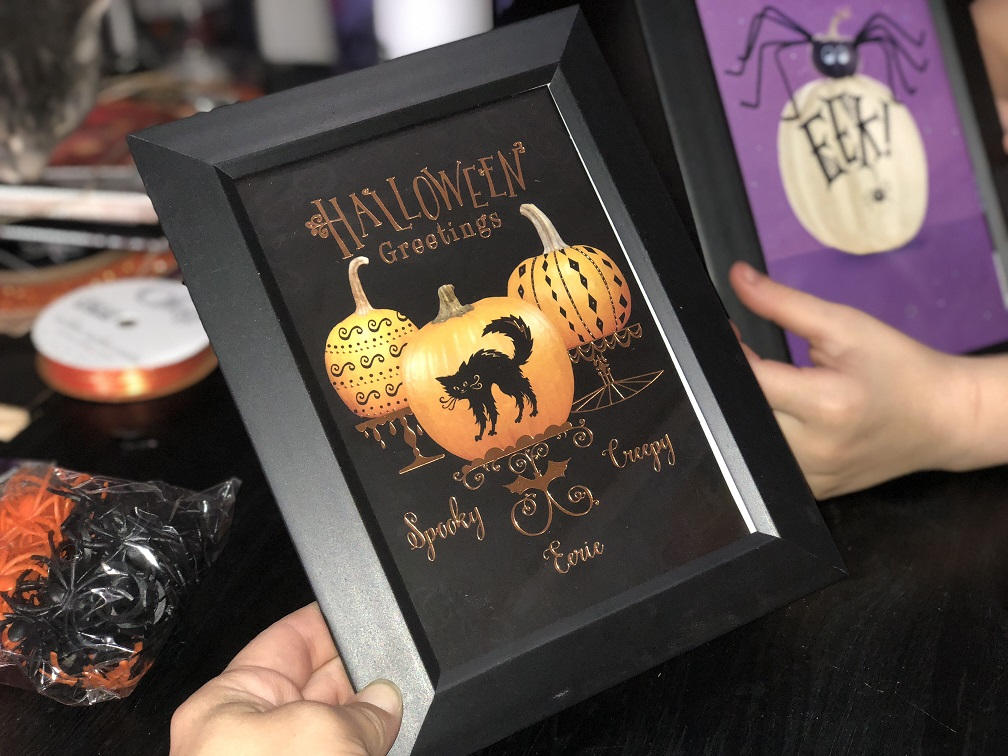 Picture Frame Halloween Decor