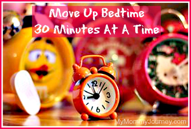 preparing for preschool move up bedtime