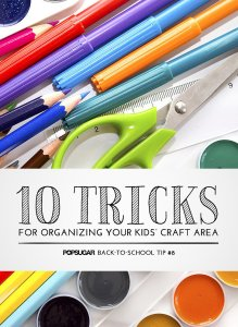 organizing kid's crafts, organizing ideas, organizing crafts