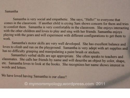 My Mommyology write-up