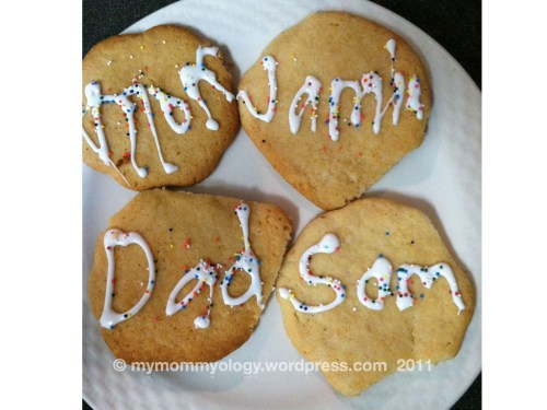 My Mommyology cookie names