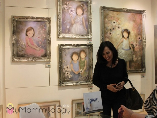 This is Nona Migs, her book and her beautiful paintings.