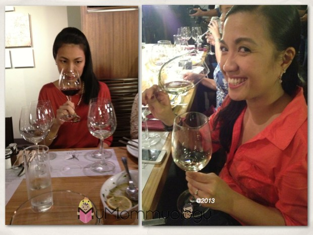Here we have My Mom Friday sniffing a Merlot, and Mommy Fleur having just a bit too much bubbly! ;)