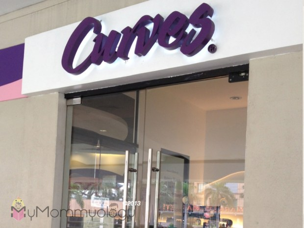 The entrance to the Curves fitness circuit.