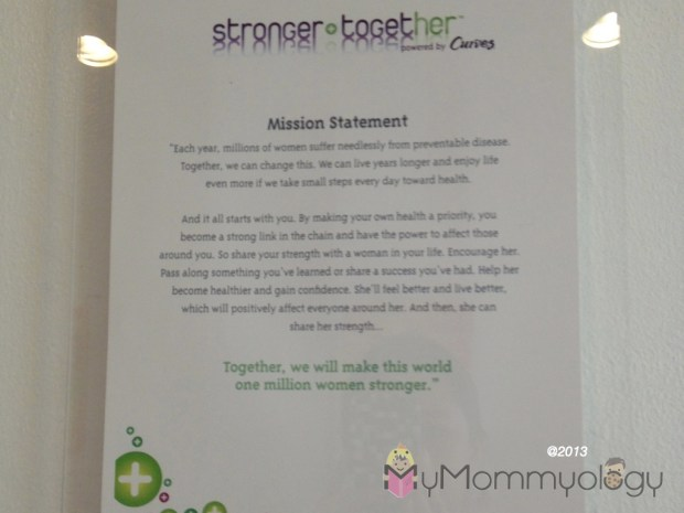 The Curves mission statement has at its hard, its commitment to making women stronger & healthier.