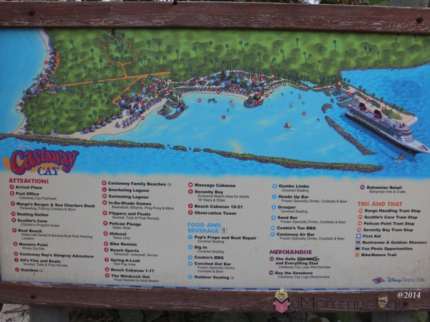 The map around the island.