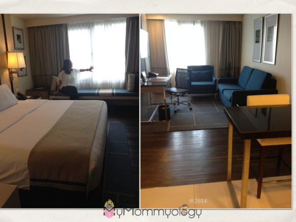 The beautiful rooms at Seda BGC.  Great for staycations too!