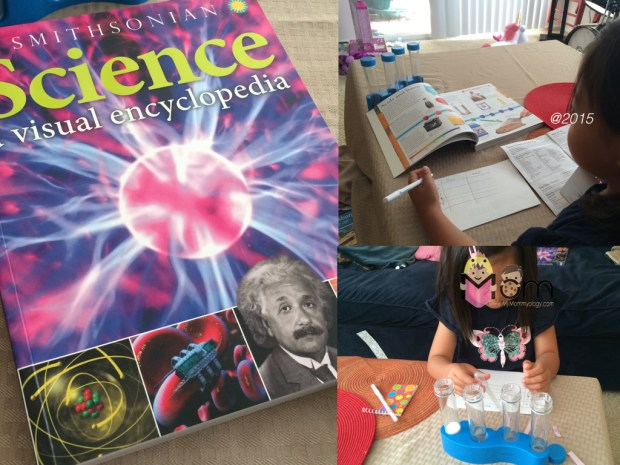 Using our Science encyclopedia to test if the liquids in our home were acidic, basic or neutral.