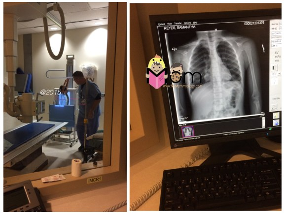 Of course I had to document her very first x-ray procedure.