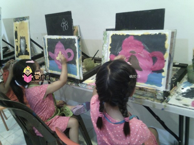 Painting their little teapots