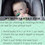The Best Car Seats For Pickup Trucks Updated For 2021 Infant Seats Convertible Car Seats And Booster Seats My Mom S A Nerd