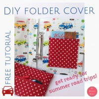 Roadtrip binder cover tutorial