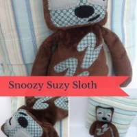 Free Sloth cuddly toy sewing pattern