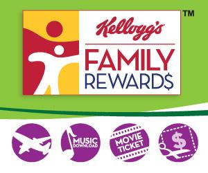 Kellogg's Family Rewards Program Coupons and Sweepstakes