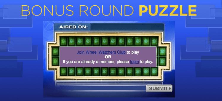 Wheel Of Fortune Bonus Solutions