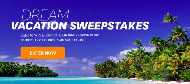 BHG Dream Vacation Cook Islands Sweepstakes