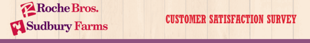 Tell Roche Bros. Customer Survey
