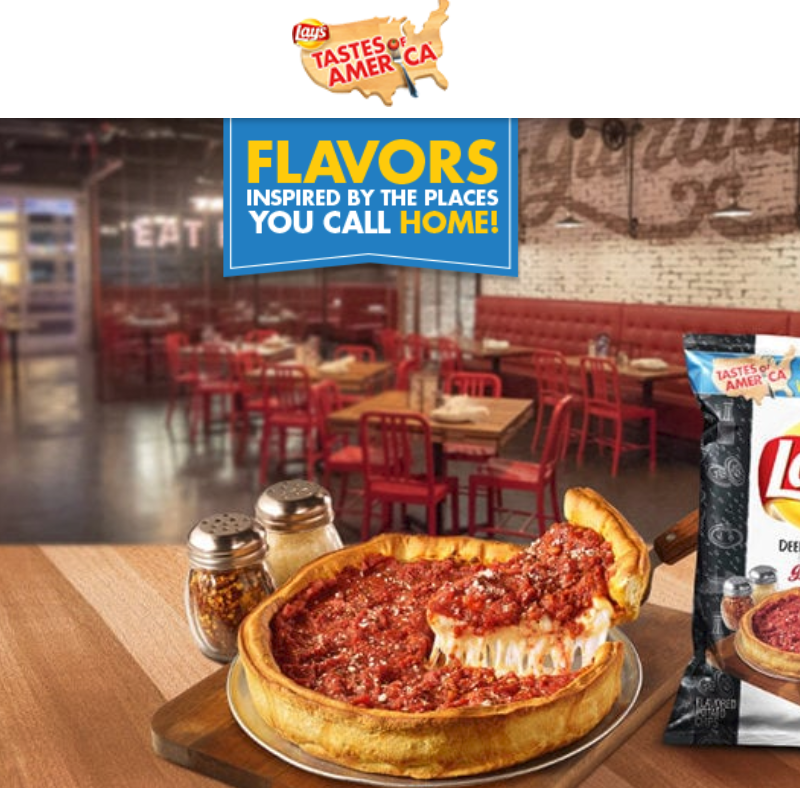 Enter Code Lay's Tastes of America Sweepstakes