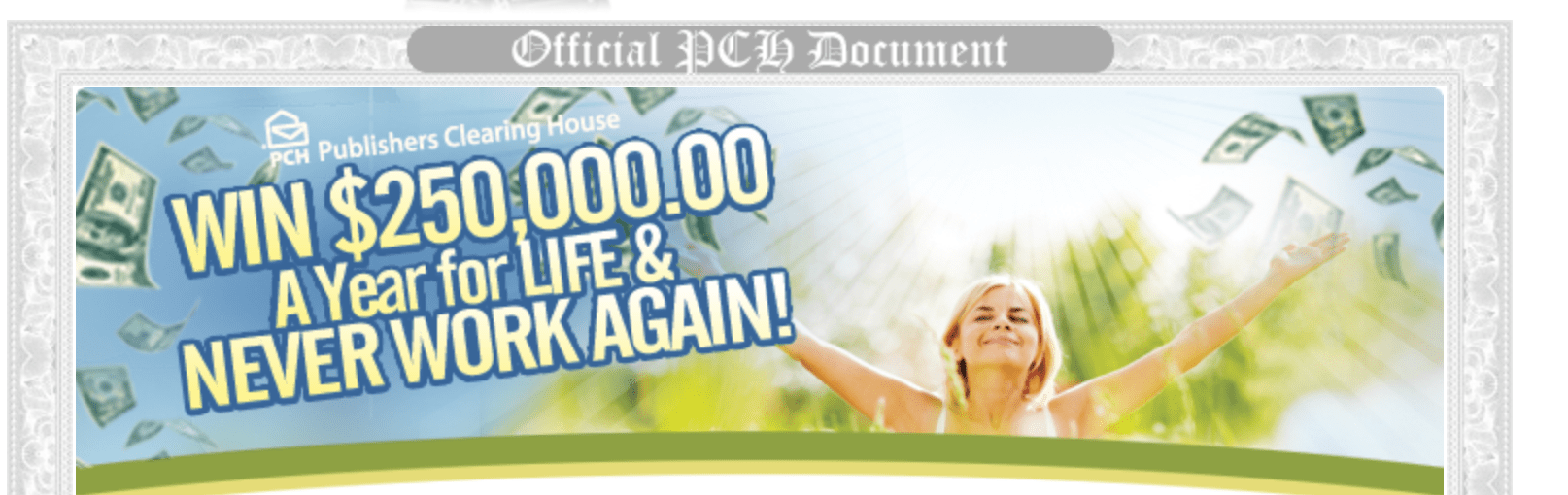 Win PCH com SuperPrize $250,000 A-Year-For-Life (Giveaway 11000)
