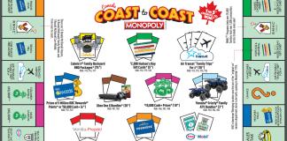 mcdonald's coast to coast game board