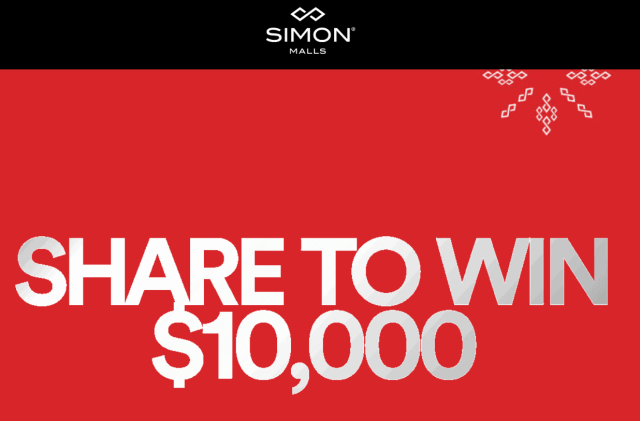 Simon Malls Holiday Sweepstakes
