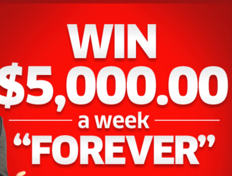 PCH $5000 a Week For Life Giveaway (Free Entry to Win!)