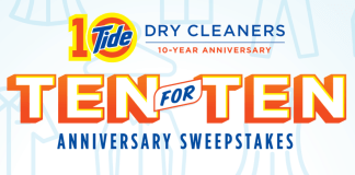 www.tidedrycleanerscom-10-year-anniversary-sweepstakes
