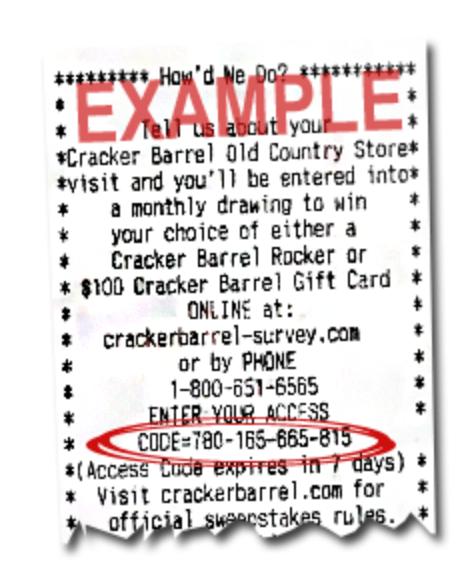 wwwcrackerbarrelsurveycom