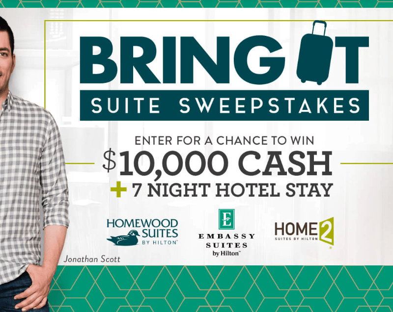 HGTV.com Bring It Suite Sweepstakes ($10,000 Cash Prize)